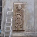 Panoplia barokowe w trakcie renowacji