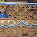 Ołtarz w Kamieniu Pomorskim w trakcie renowacji